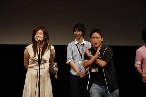 Director Lisa Takeba giving a speech (while I pose) 2