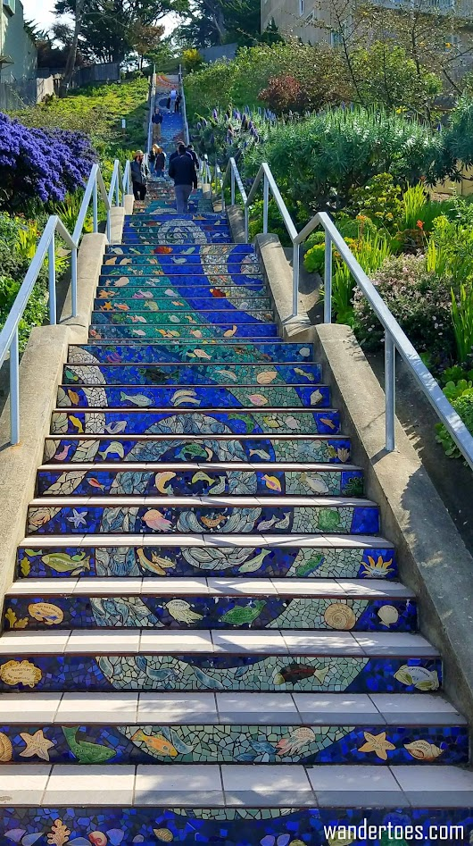 San Francisco's Stair Mural: Community Project, Instagrammer's Dream - wandertoes