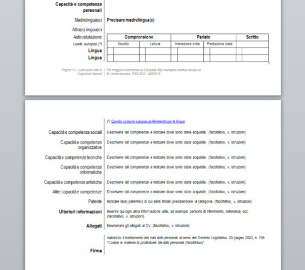 Download Curriculum Vitae Europass Free Networkicecom