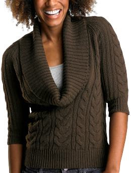 Gap Cable knit cowl neck sweater