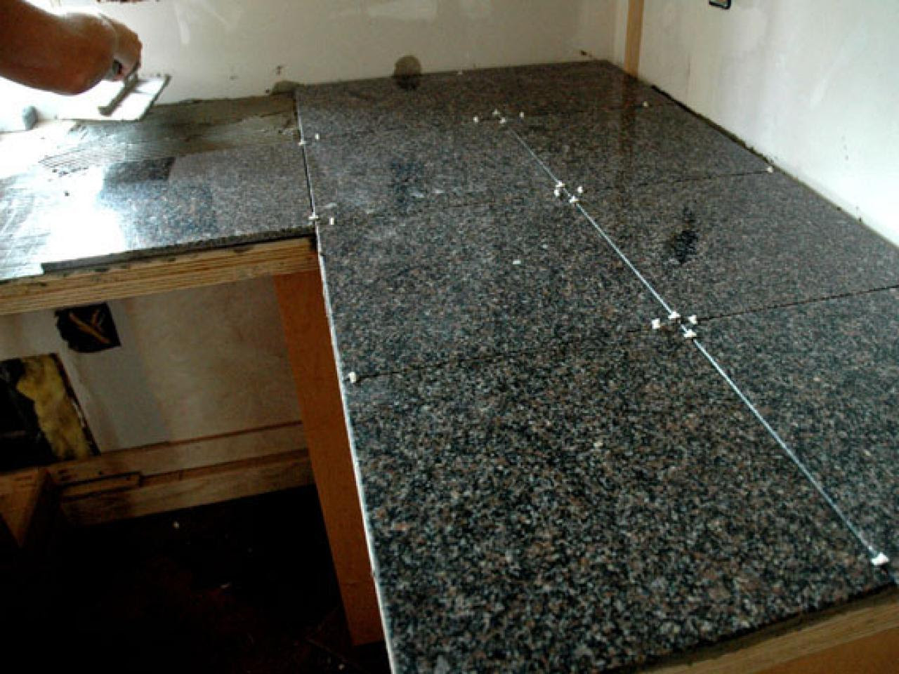 How to Install A Granite Tile Kitchen Countertop | how-tos | DIY