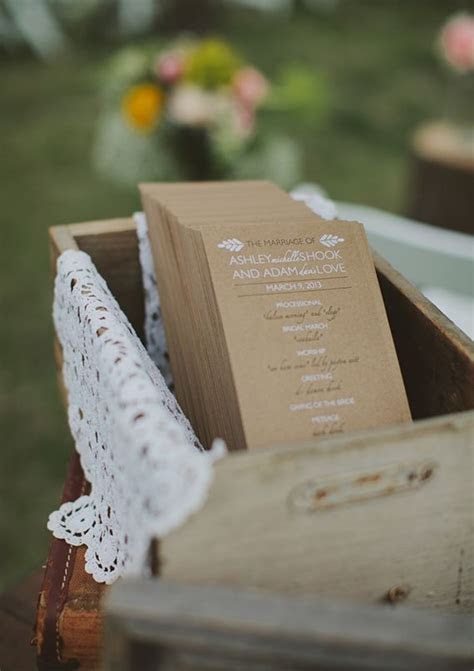 Vintage wedding programs that have an identical style of