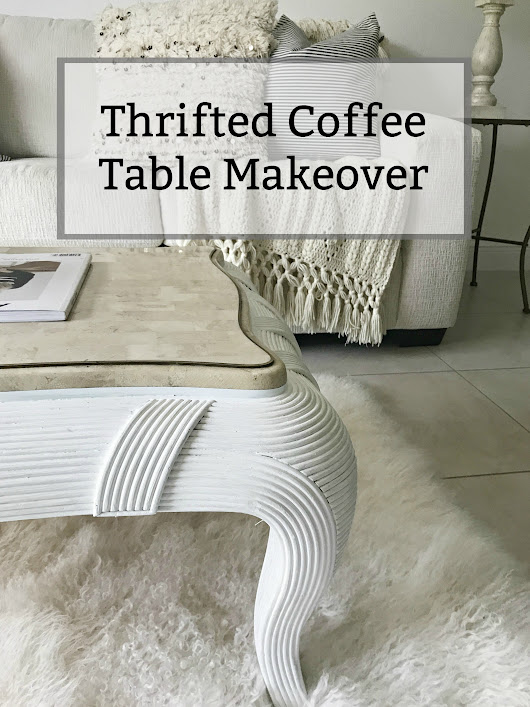 Thrifted Coffee Table Makeover | Trashtastic Treasures • Sweet Parrish Place