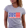 Reagan Bush '84 Bringing America Back Retro Campaign Slogan T-Shirt