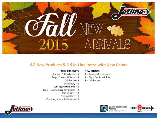 Jetline 2015 Fall New Product Arrivals
