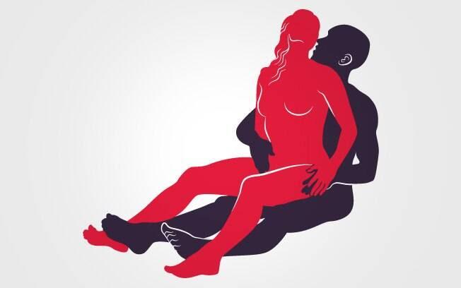 14. ENCAIXADINHA SENTADA: Ela senta no colo dele apoiando as costas em seu tronco. Ela rebola, ele estimula o clitóris com uma das mãos . Foto: Renato Munhoz (Arte iG)