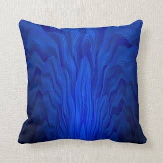Blue Abstract Art Throw Pillow