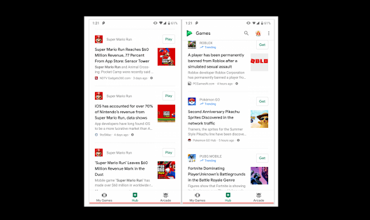 Google is testing a news feed for its Play Games service