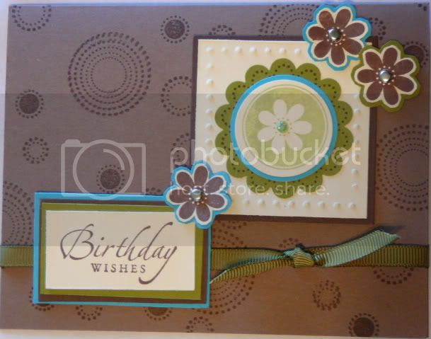 Stampin Up card using Seeing Spots and Sincere Salutations