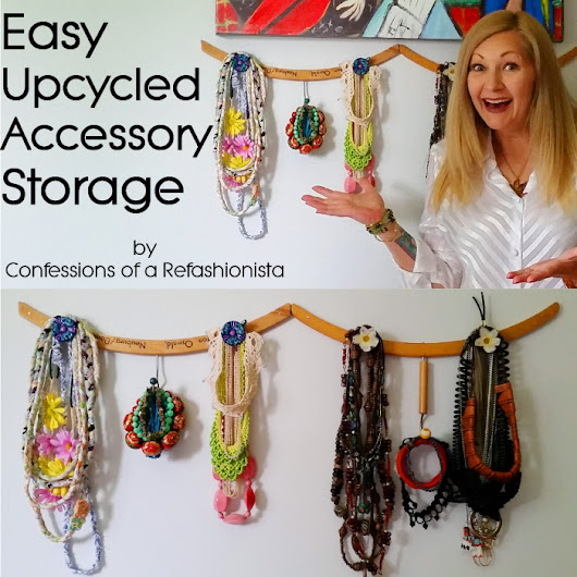 Easy upcycled DIY accessory holder + jewellery storage ~ Confessions of a Refashionista