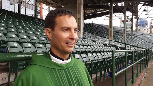 Miguel Montero attends mass at Wrigley Field