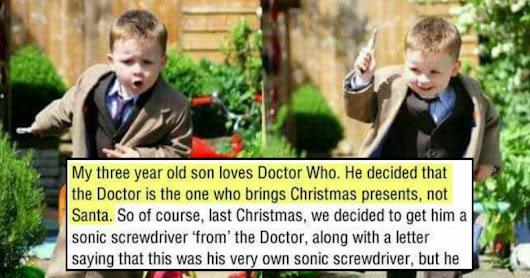Father Recounts an Adorable Story About His Son's Love For Doctor Who That Will Melt Your Heart