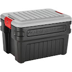 Rubbermaid 24 Gallon Action Packer Lockable Latch Storage Box Container, Black by VM Express