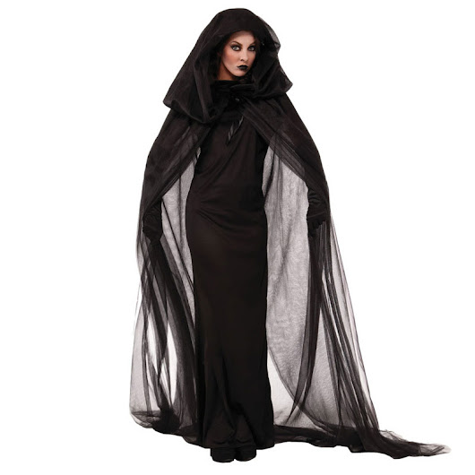 Halloween Purim Carnival Black Gothic Witch Costume Costumes for Women Adult Adulto Fantasia Long Dress Cosplay Clothing - free shipping worldwide