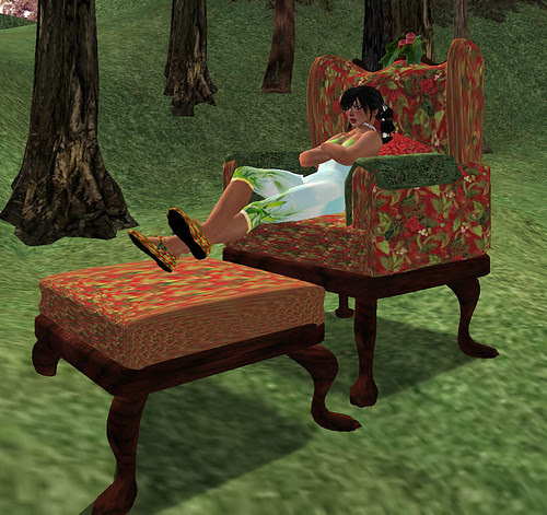 Just My Imagination armchair and footrest gift