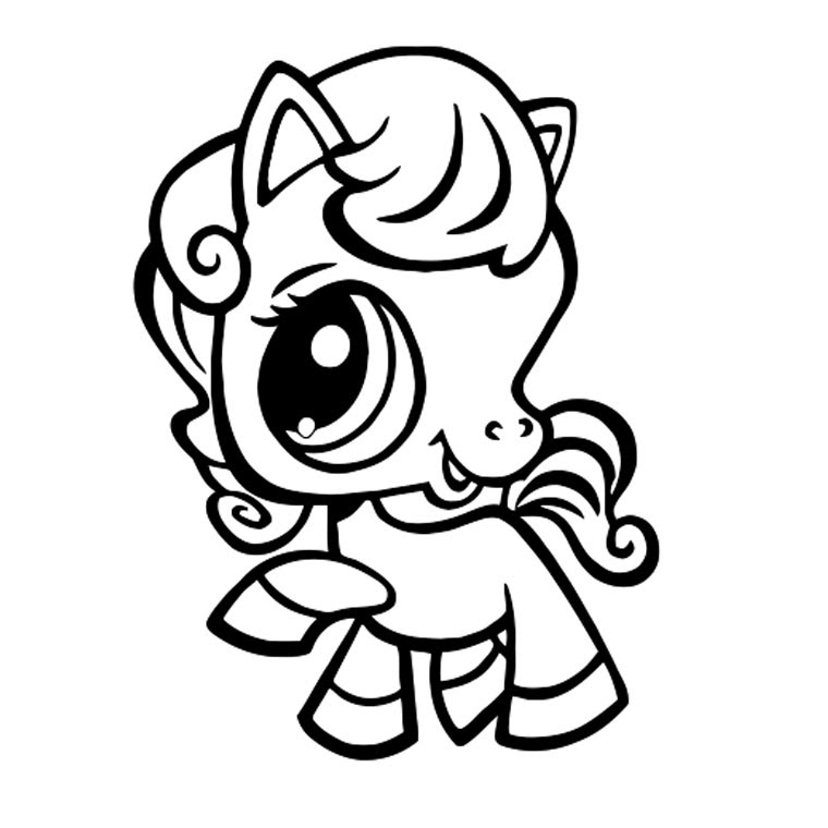 Coloriage Poney Pet Shop A Imprimer Gratuit Az Coloriage