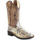 Old West Boys' Faux Leather Western Boots