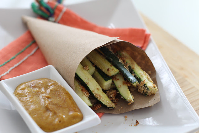 Fall Recipe: Zucchini Oven Fries with Pumpkin Mustard
