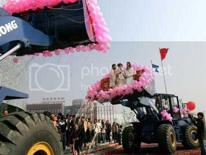 mariage tracteur Chine