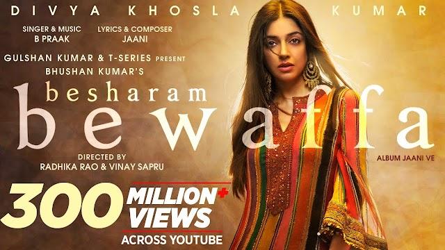 Besharam Bewafa Hindi Lyrics - B Praak