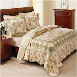 Greenland Home Fashions Bliss Ivory Quilt Set, King