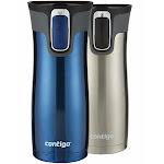 Contigo Autoseal Travel Mug, 16 oz, Gray/Blue - 2 count