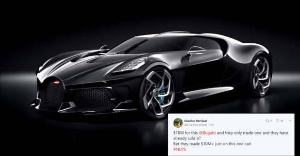 Buggati has redefined Automative Elegance with this most expensive car in the world worth $18m