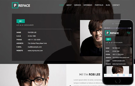 Preface a Personal Category Bootstrap Responsive Web Template