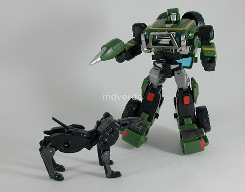 Transformers Hound Classics Henkei with Ravage - modo robot (by mdverde)