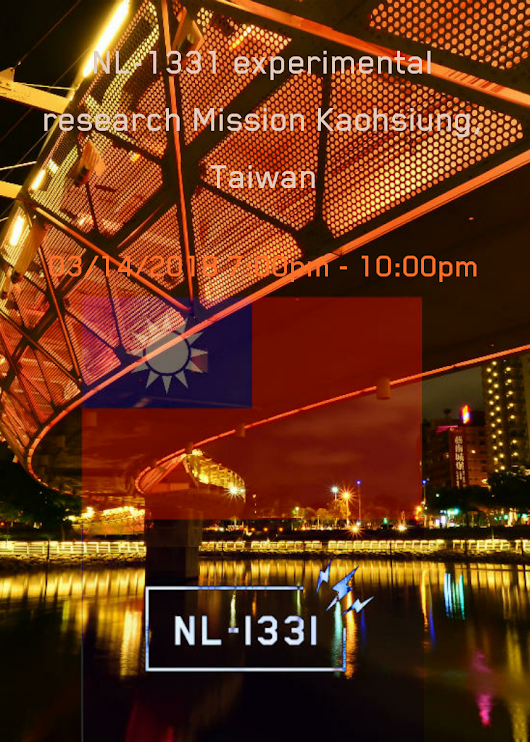 NL-1331 experimental research Mission Kaohsiung, Taiwan