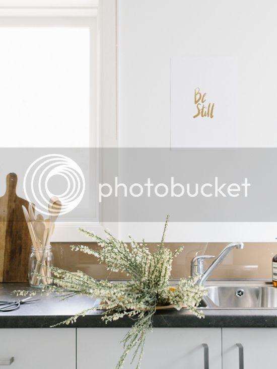 Be Still | Honey & Gold Christian foiled wall art
