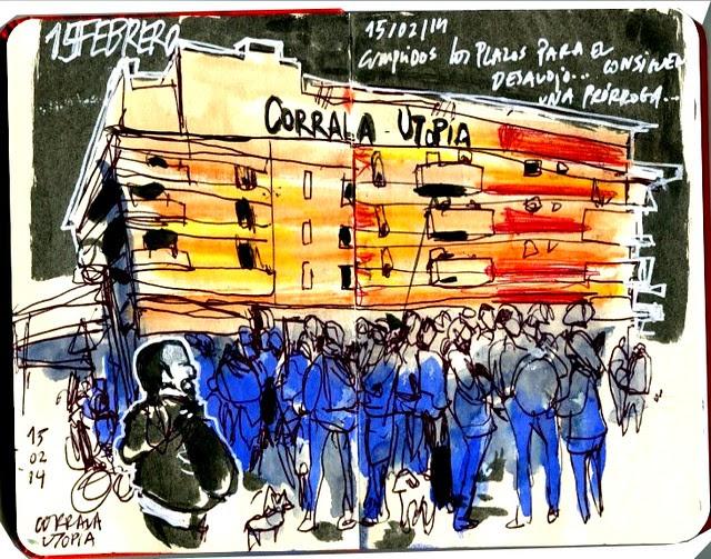 CORRALA UTOPÍA. SEVILLA. CONCENTRACIÓN 15 DE FEBRERO
