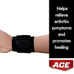 Ace Brand Wrap Around Wrist Support, Helps Relieve Arthritis Symptoms, Black, 1 Count