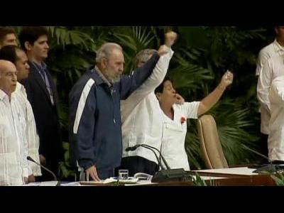 Fidel Castro resigns from head of Communist Party