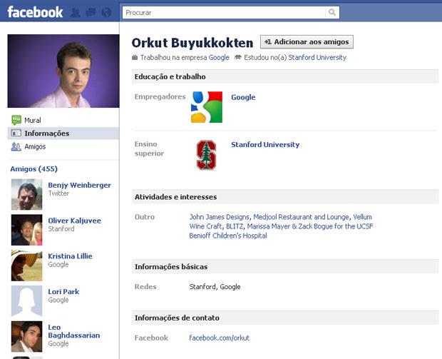 Facebook Orkut (Foto: Reprodução)