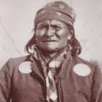 Geronimo, held off US army until family threatened with death.