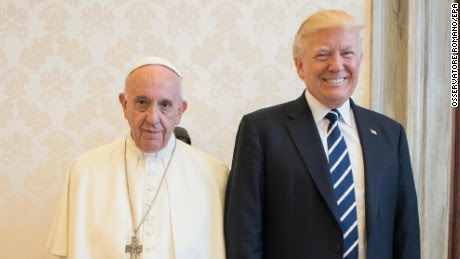 Trump meets with the Pope, Spicer not invited