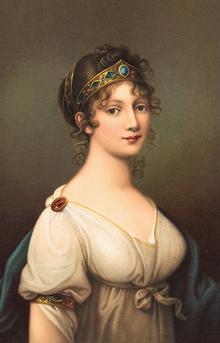 Portrait of Luise of Mecklenburg-Strelitz by Jozef Maria Grassi, 1804