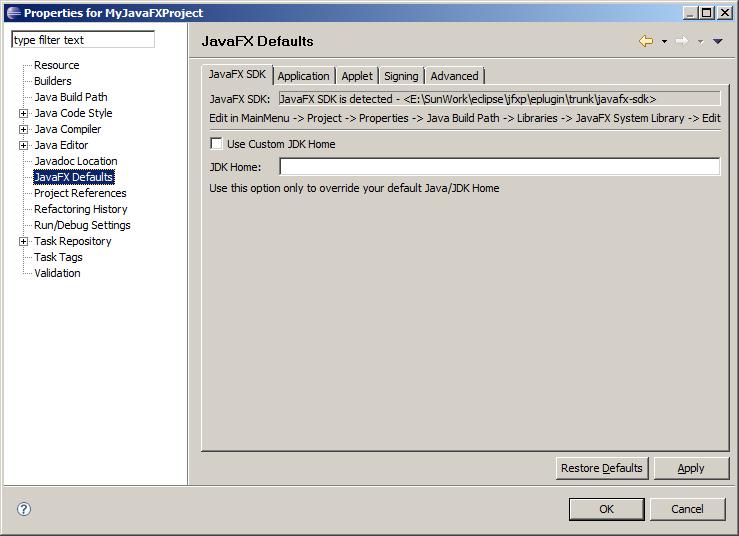 Java FX for Eclipse - F4-Programmer