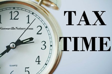 Notary Blog Tip | Tuesday, April 18th is Tax Day, Don't Forget to File! ~ GreenvilleNotary.com