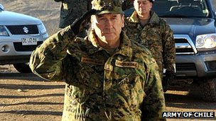 Gen Juan Miguel Fuente-Alba in August 2012 (file image from Army of Chile website)