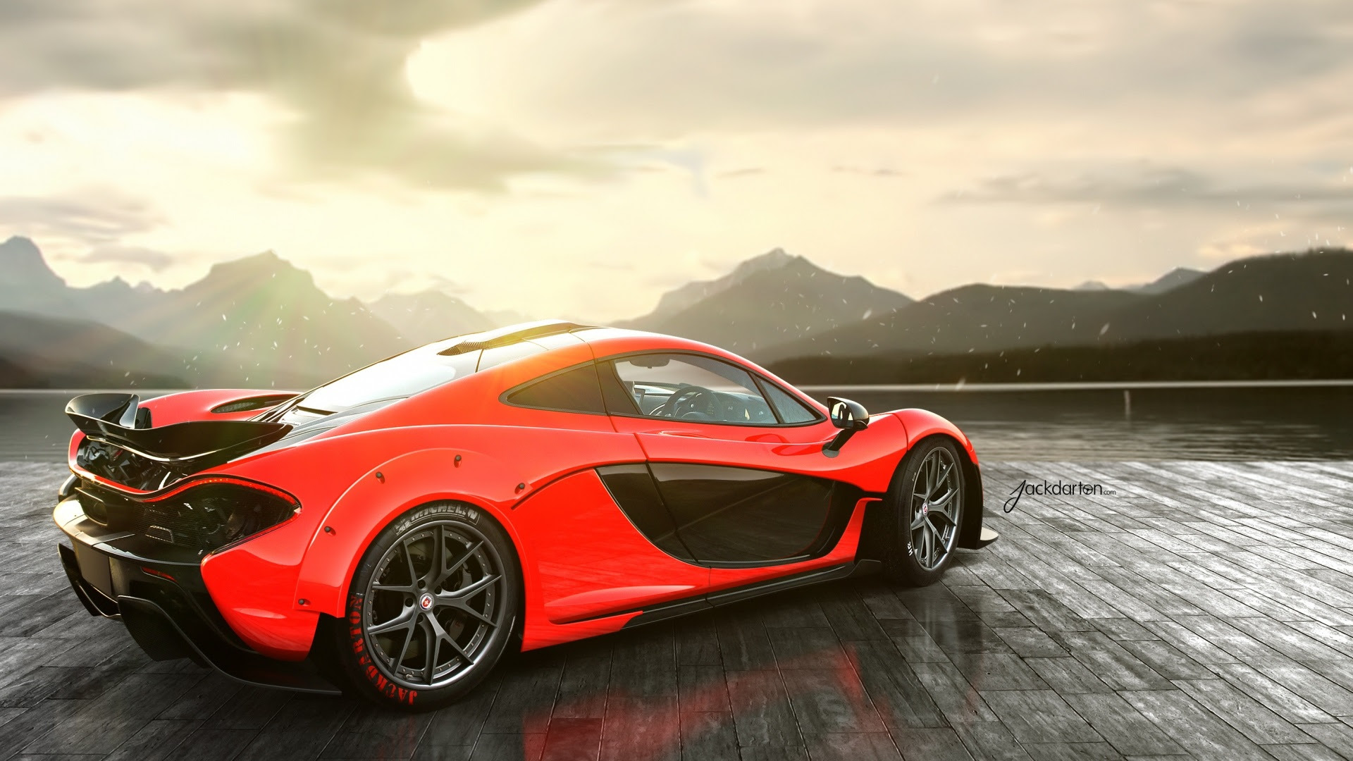 Awesome McLaren P1 Rear Wallpaper