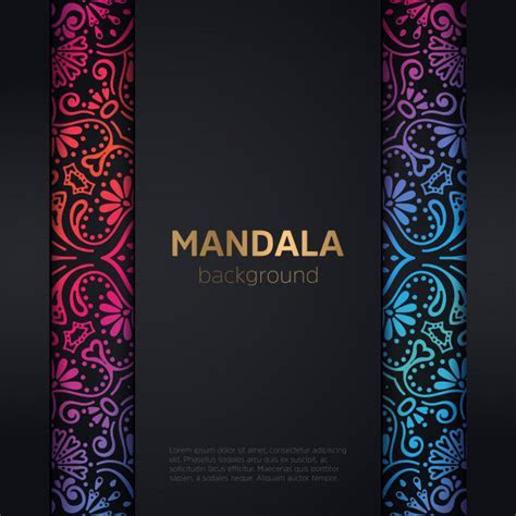 Luxury wedding invitation with mandala Vector   Free Download