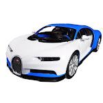Maisto MAI32509BLWT Bugatti Chiron Model Car - Light Blue & White