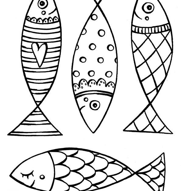Coloriage204: coloriage de poisson d avril