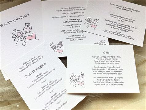 Bride and Groom RSVP Cards and Envelopes   Stationery