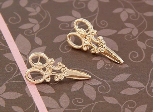 Golden Scissor Earrings by StyleStudiobyLuLu on Etsy