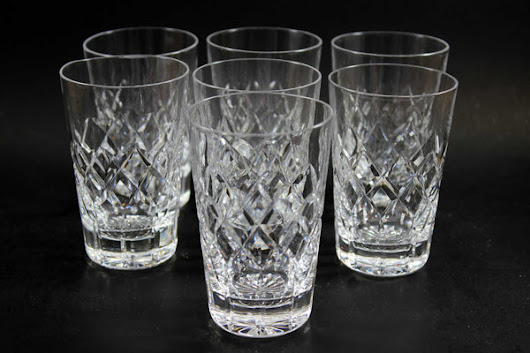 Webb Corbett Crystal, Juice or Small Tumblers (7)