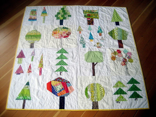 do.good stitches: trees quilted