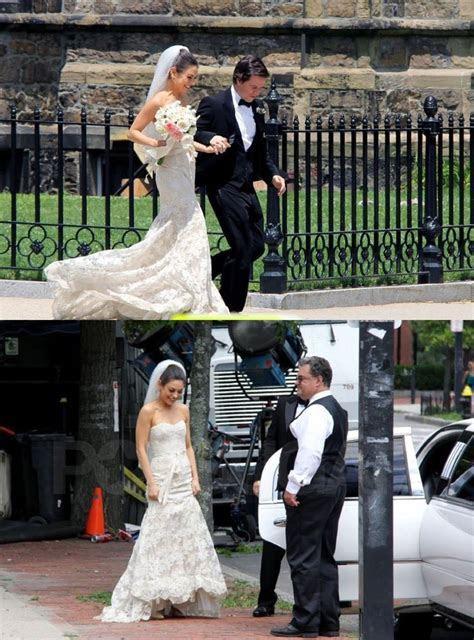 Mila Kunis in wedding scene photo ( with actor Mark